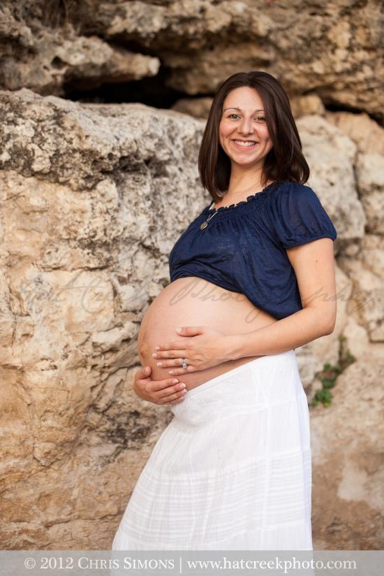 Austin Maternity Photographer Pregnancy Portrait